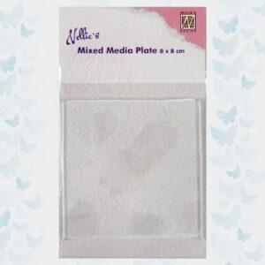 Nellies Choice Gelplate Vierkant 8x8cm NMMP002