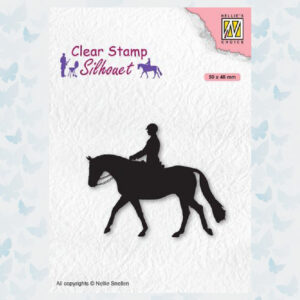 Nellies Choice Clearstempel - Silhouette Ruiter SIL068