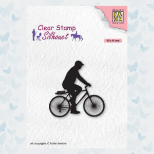 Nellies Choice Clearstempel - Silhouette Fietser SIL072