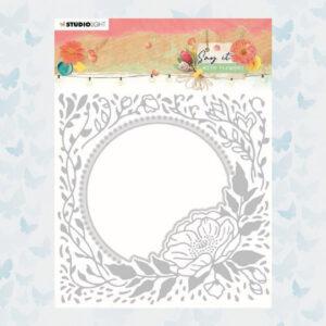Studio Light Embossing Folder & Cutting Die Say it with flowers nr.12 SL-SWF-EMBCD12