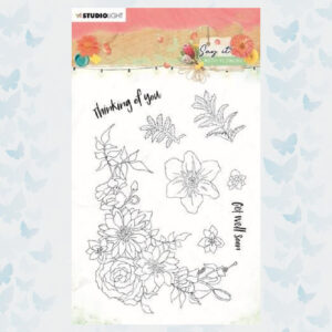Studio Light Clear Stempels Say it with flowers nr.525 SL-SWF-STAMP525
