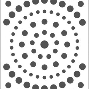 The Crafter's Workshop Concentric Circles Slimline Stencil (TCW2307)