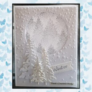 Nellies Choice Christmas Silhouette Clearstamp - Mistig Bos TXCS017