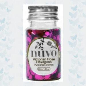 Nuvo Confetti - Victorian Rose Hexagons 1063N