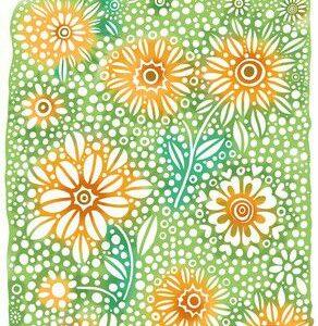 CraftEmotions Clear Stempel Achtergrond Bloemen 130501/1347
