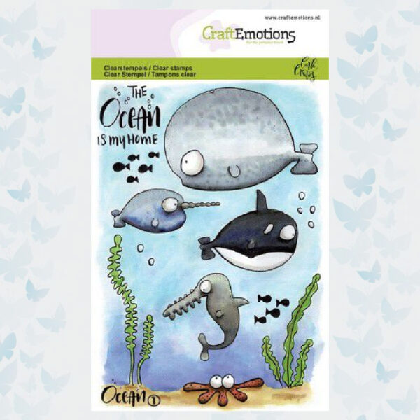 CraftEmotions clearstamps A6 - Ocean 1 Carla Creaties 130501/1621