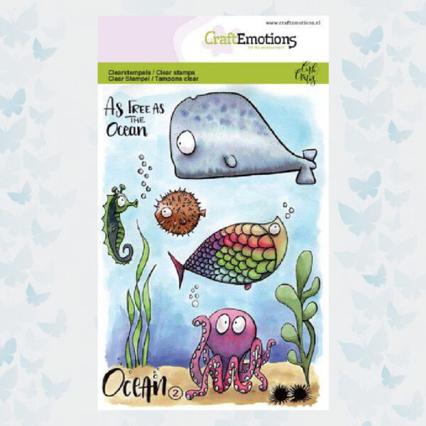 CraftEmotions clearstamps A6 - Ocean 2 Carla Creaties 130501/1622