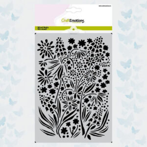 CraftEmotions Mask/Stencil Summer Flowers 185070/1274