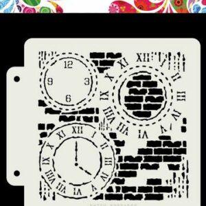 Dutch Doobadoo Dutch Mask Art Grunge Clock 470.715.154