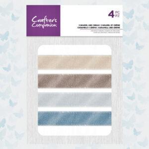 Crafter's Companion Assorted Organza Ribbon Caramel and Cream (CC-RIB-CARM)
