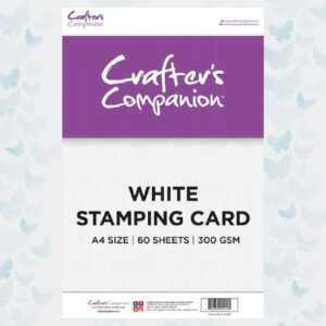 Crafter's Companion White Stamping Card CC-STCARD 60 vel