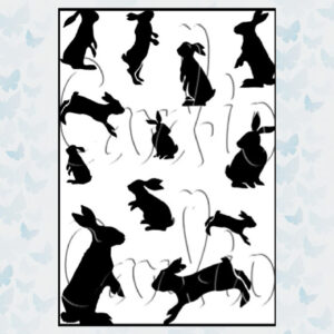 Card-io Clear Stempel Cottontail Capers CCSTCOT-01