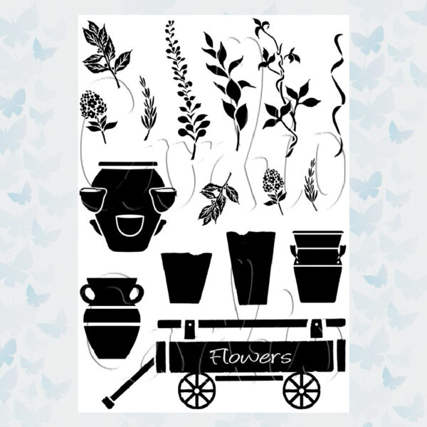 Card-io Clear Stamp Set Terracotta Terrace CCSTTER-01