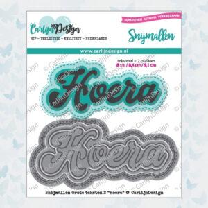 CarlijnDesign Snijmallen Grote Teksten 2 Hoera (CDSN-0051)