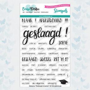 """CarlijnDesign Stempelset """"Geslaagd & Succes"""" CDST-0028"""