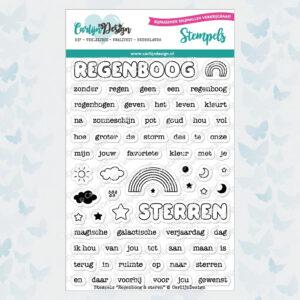CarlijnDesign Stempels Regenboog & Sterren (CDST-0062)