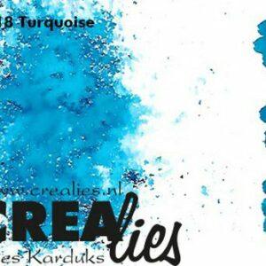 Crealies Pigment Colorzz Poeder Turquoise CLPC18