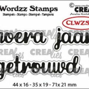 Crealies Clearstamp Wordzz Hoera Getrouwd CLWZS09