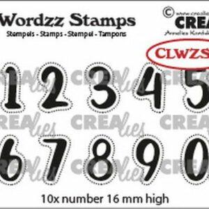 Crealies Clearstamp Wordzz Cijfers CLWZS99
