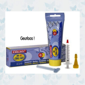 Collall 3D Lijm geurloos + accesoires 80 ML COLKIT080DS