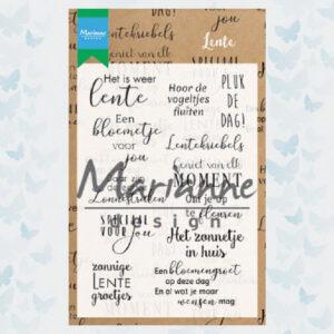 Marianne Design Clear Stempels Lente Tekst CS1022