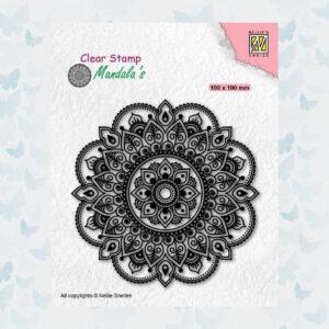 Nellies Choice Clearstempel Mandala - Bloemen CSMAN005