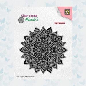 Nellies Choice Clearstempel Mandala - Zonnebloem 2 CSMAN008