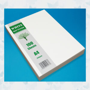 Craft UK A4 White Recycled Cardstock Pack (CUK2255) 100 Vellen