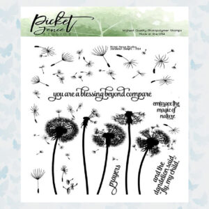 Picket Fence Studios Dandelions Delight 6x6 Inch Clear Stamps (F-154)