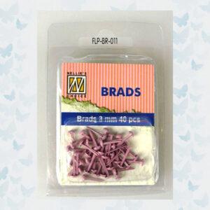 Nellie's Choice Floral Brads Roze FLP-BR-011