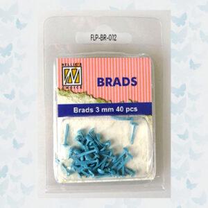 Nellie's Choice Floral Brads Baby Blauw FLP-BR-012