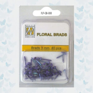 Nellie's Choice Glitter Brads Purper FLP-GB-008