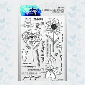 Ranger Clearstamps 6x9 Flower Picking Friends HUR68914 Simon Hurley