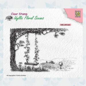 Nellies Choice Clearstempel - Idyllic Floral Scenes - Schommel IFS035