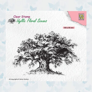 Nellies Choice Clearstempel - Idyllic Floral Scenes - Oude boom IFS036