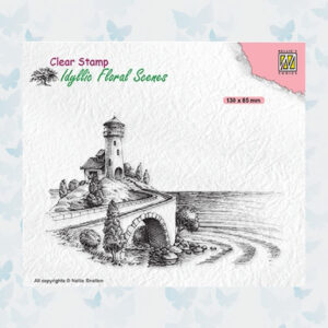 Nellies Choice Clearstempel - Idyllic Floral Scenes - Vuurtoren IFS037