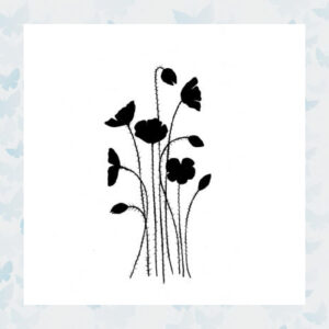 Lavinia Clear Stamp Wild Poppies LAV189