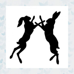 Lavinia Clear Stamp Boxing Hares LAV371