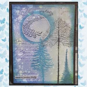 Lavinia Clear Stamp Fairy Fir Tree 2 LAV492s