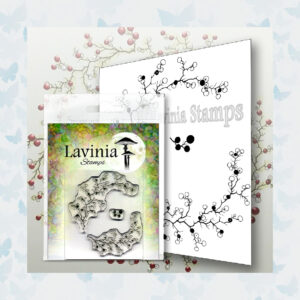 Lavinia Clear Stamp Berry Wreath with Mini Berries LAV568