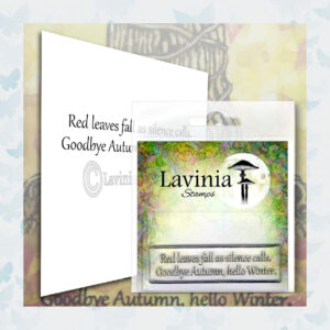 Lavinia Clear Stamp Red Leaves LAV574