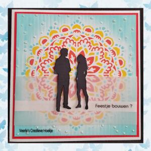 Nellie's Choice Layered combi stencil set Mandala 1 LCSM001