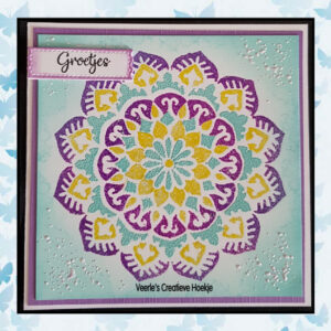 Nellie's Choice Layered combi stencil set Mandala 2 LCSM002