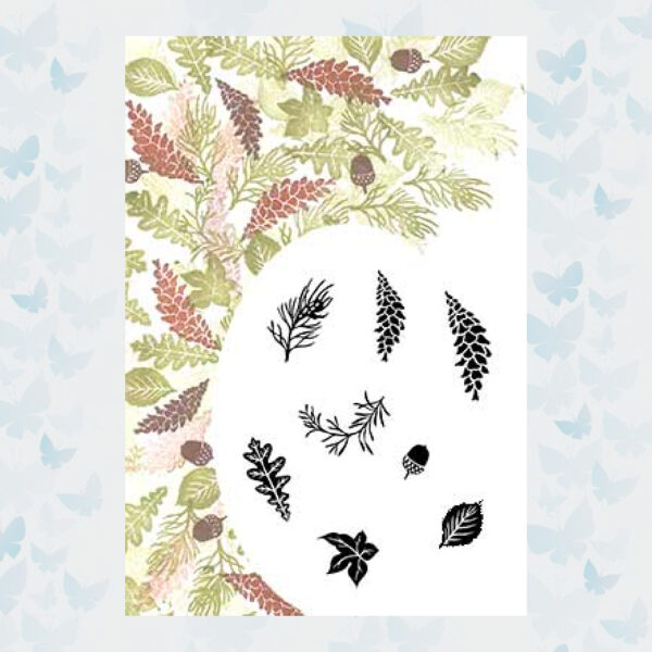 Majestix Clear Stamps Autumn Wreath MAAU-01