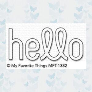 My Favorite Things Die-Namics Simply Hello MFT-1382