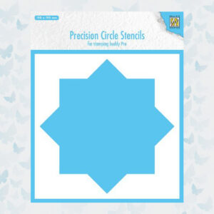 Nellie's Choice Precision Stencils 8-punts Cirkel MMPCS001