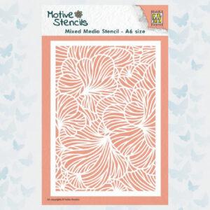 Nellie's Choice Mixed Media Stencils Bladeren MMSA6-011