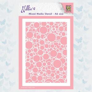 Nellies Choice Mixed Media Stencils Bubbels MMSA6-016