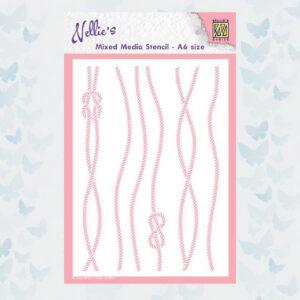 Nellies Choice Mixed Media Stencils Touw MMSA6-018