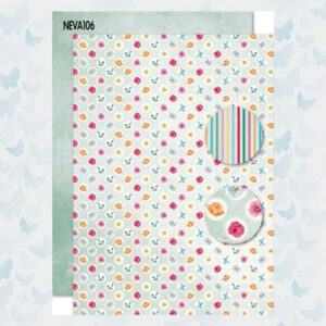 Nellies Choice Achtergrond Papier 2-zijdig Vlinders NEVA106